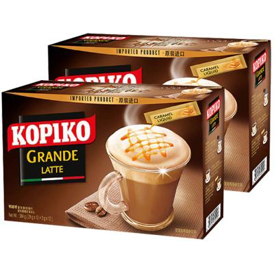 (散裝盒裝隨機發【1份送杯勺-2份發5盒】印尼原裝進口kopiko可比可咖啡拿鐵意式三合一咖啡粉 速溶咖啡提神沖飲24包
