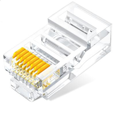山泽SJ-51008P8C超五类网络水晶头100个 单位:盒