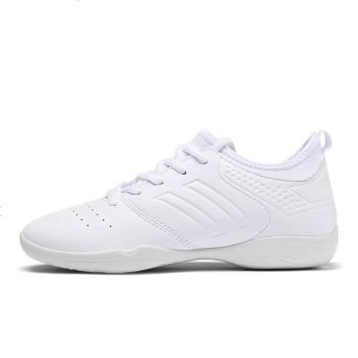 健美操鞋女式软底跳舞啦啦操鞋运动健身训练比赛小白鞋舞蹈鞋