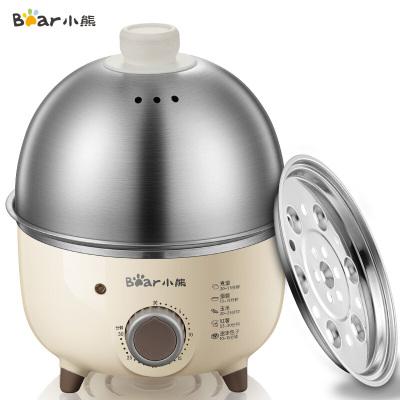 小熊(Bear)煮蛋器 家用早餐機單層不銹鋼定時防干燒自動斷電迷你蒸蛋器 ZDQ-B07C3