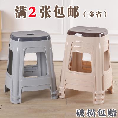 蘇寧放心購(1張不發貨)加厚歐式防滑成人塑料凳子高凳餐桌椅子茶幾矮凳浴室凳兒童小板凳A-STYLE