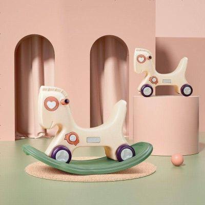 babycare寶寶搖搖馬 兒童搖馬塑料小木馬 1-2-3周歲禮物嬰兒玩具 維爾粉