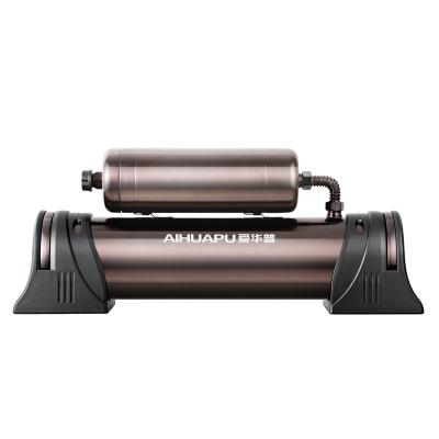 爱华普净水器家用直饮 厨房超滤中央净水机不锈钢 自来水过滤器 褐色