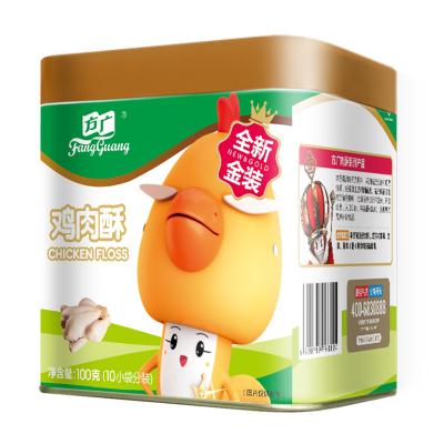 方广 儿童零食 肉酥≠肉松 鸡肉酥肉粉松100G/罐装 国产 含钙(10小袋分装)