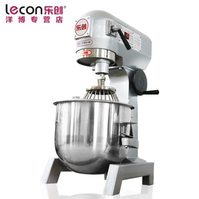 lecon/乐创洋博 商用和面机 30升搅拌机 鲜奶机 多功能揉面机搅拌机打蛋器 打面机 大型面点搅拌机打蛋机