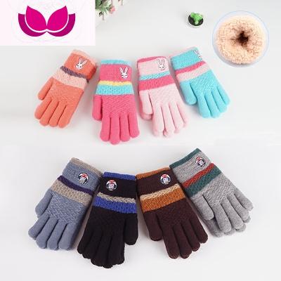 兒童手套冬天冬季加絨加厚小學生保暖針織毛線手套男女童五指手套