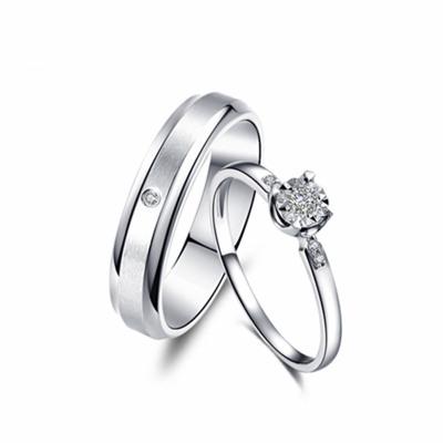 佐卡伊zocai 戒指 钻石情侣戒指结婚求婚戒指 车花工艺钻戒正品珠宝