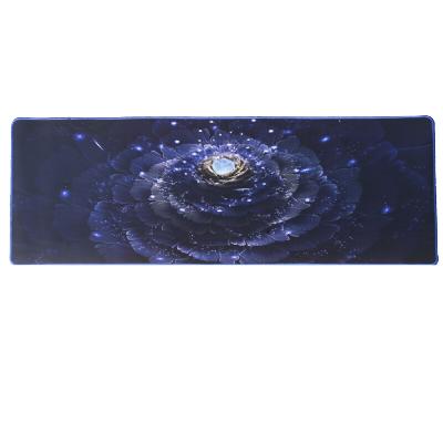 靈蛇 游戲鼠標墊 超大電腦桌墊 加厚辦公桌鍵盤墊 精密包邊 防滑 可水洗 P11藍色