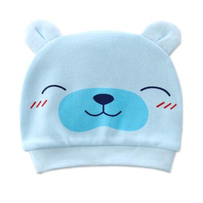 貝樂咿 初生兒胎帽嬰兒帽子0-3月純棉防風帽剛出生用品滿月帽單層薄款春秋夏款薄款