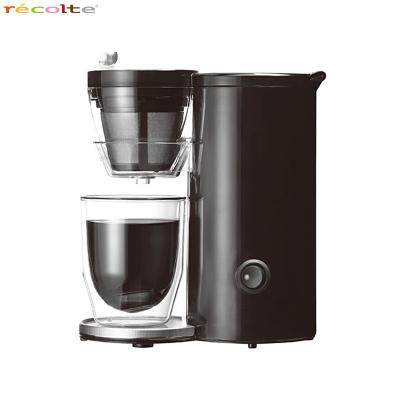 recotle/丽克特 煮咖啡机 家用日式迷你滴漏式一杯半自动咖啡机黑色款