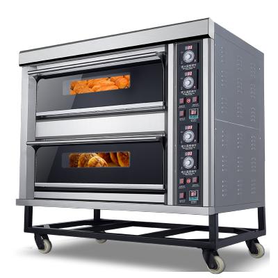 致烈(Devole)烤箱商用披萨烘焙两层四盘电烤箱大容量蛋糕面包电热烤炉
