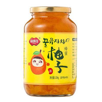 福事多蜂蜜柚子茶1000g 沖飲泡水喝的沖泡飲品韓式水果茶飲花果茶醬