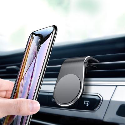 华饰 汽车车载手机支架创意磁吸铝合金出风口导航架支撑架车内饰品用品