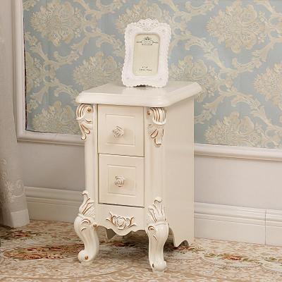 床头柜 窄款床边小柜子新款家具30cm35cm40cm45宽小户型欧式简约迷你床头柜 B款(30cm)金色象牙白 整装