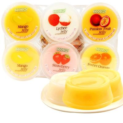 可康果凍80g*3混合水果多口味椰纖果肉布丁馬來西亞進口零食小吃