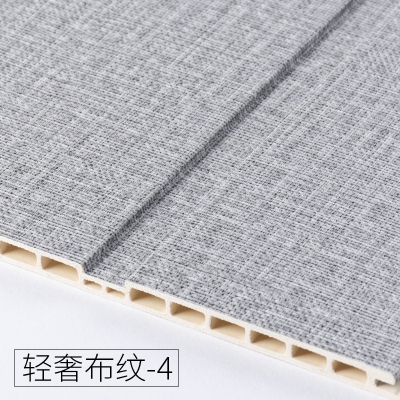 竹木纖維墻裙生態木護墻板防水墻面裝飾板吊頂材料背景墻陽臺快裝 輕奢布紋-4