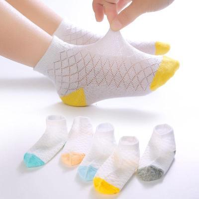 5雙裝春夏超薄兒童襪透氣網眼吸汗男童女童大童寶寶0-12棉襪通用 其他兒童鞋配件 臻依緣