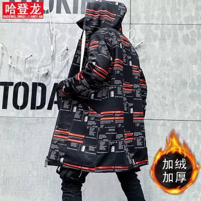 胖子冬季棉衣男中长款潮流加绒加厚大码风衣休闲加肥男士外套