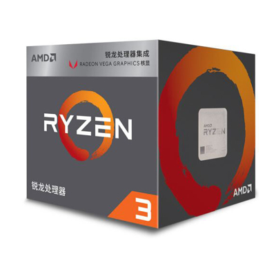 AMD 銳龍3 2200G 處理器 (r3) 4核4線程 搭載Radeon Vega8 Graphic 3.5GHz AM4接口 盒裝CPU