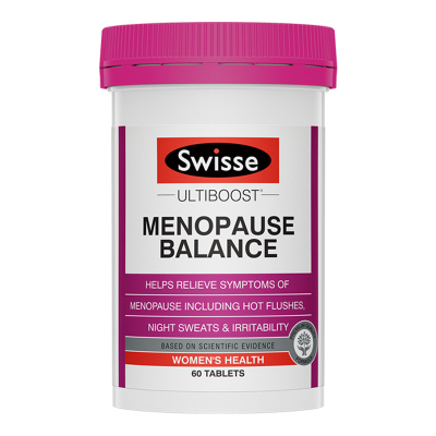 【第2件減5元】Swisse大豆異黃酮女性更年期平衡片60粒/瓶裝 澳洲原裝進口 更年期平衡營養素保健品