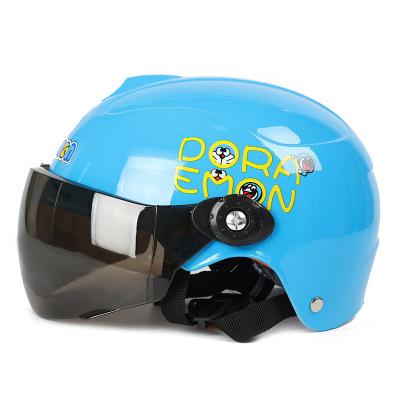 兒童頭盔男孩女夏季電動電瓶車小孩寶寶四季通用摩托車安全帽半盔顏色需要備注或隨機發貨紅色白色粉色黃色