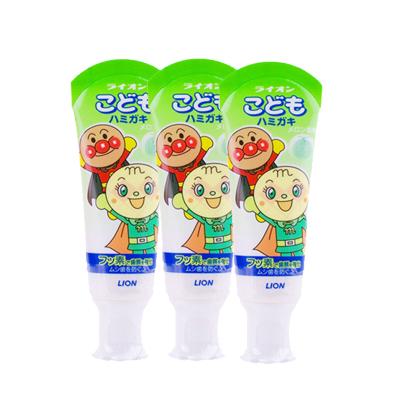 3支裝 | 獅王(LION)面包超人低氟防蛀兒童護理牙膏 水果哈密瓜味 40g 安全可吞咽