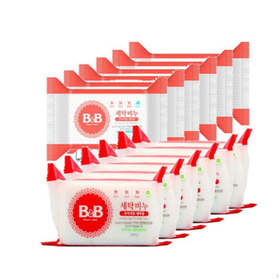 B&B 保寧 兒童除菌洗衣皂 200克/塊 洋槐香6塊+甘菊香6塊