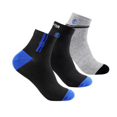 国际米兰俱乐部Inter Milan薄款男女防臭吸汗抗菌透气舒适运动休闲短袜 三双装袜子