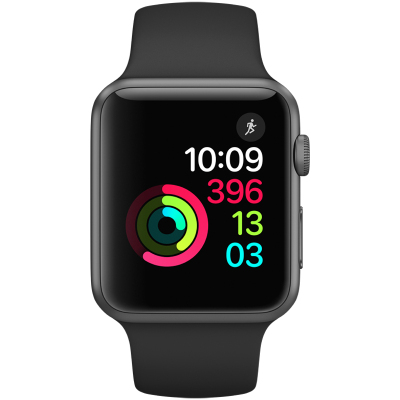 【二手95新】苹果/Apple Watch Sport Series2 二代S2智能手表 GPS版 运动型黑色 38mm