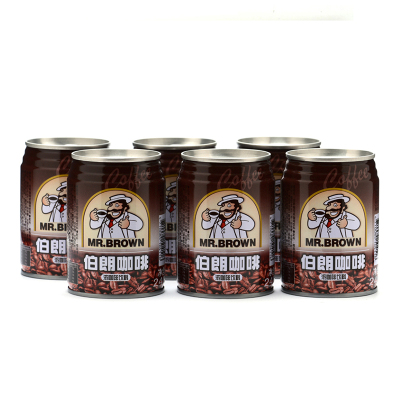 MR.BROWN伯朗咖啡浓咖啡饮料240ML*6罐越南进口咖啡