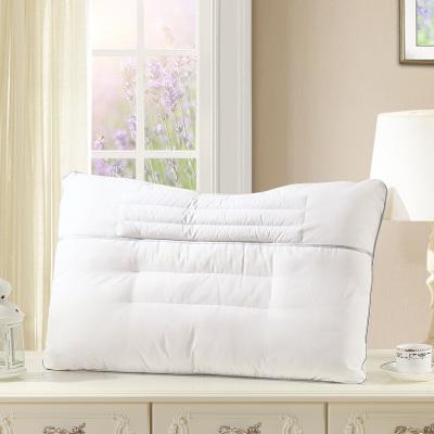 水星家纺成人枕芯正品单人纤维枕头一只装护颈枕清馨薰衣草健眠护颈枕