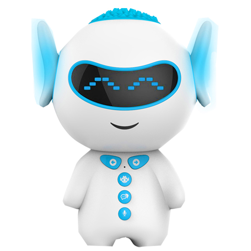 UVR胡巴智能早教智能机器人语音互动儿童学习wifi教育益智胡巴机器人PVC环保材质