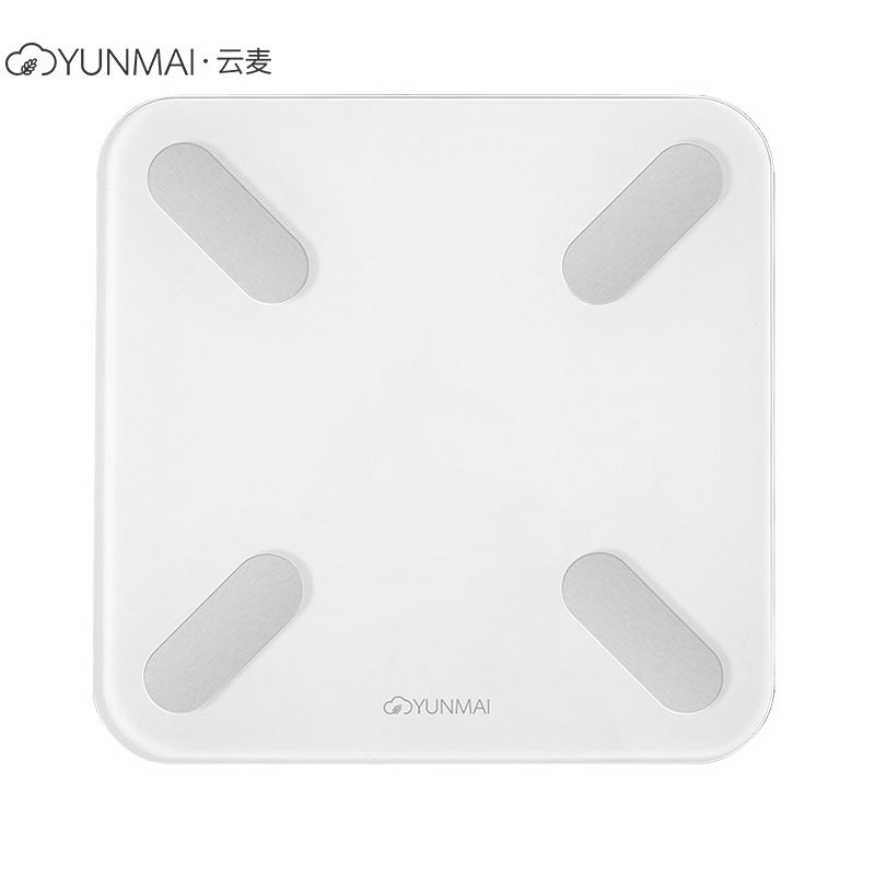 云麦(YUNMAI)好轻mini2T智能家用体脂秤健康秤白色 29项身体数据测量 精准测体脂称体重 钢化玻璃材质 最大称量150KG 重量1.2KG