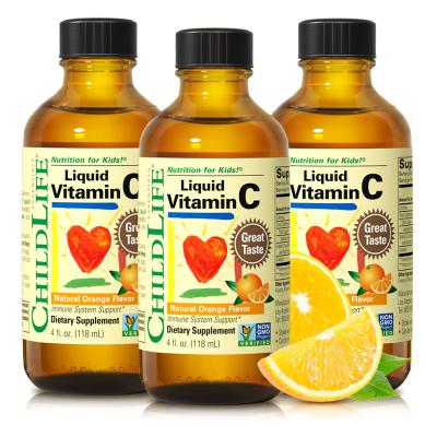 童年时光维生素C活力液*3瓶 儿童VC 儿童维C泡腾片 美国进口 促进铁吸收 6个月以上