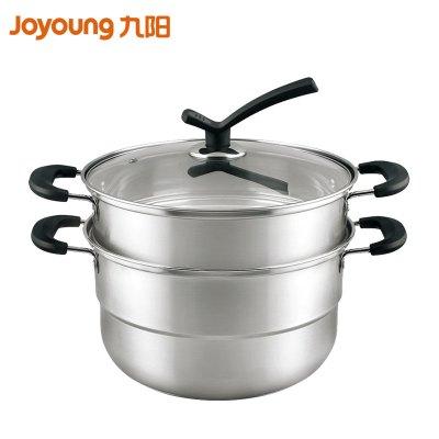 九阳(Joyoung)家用不锈钢蒸锅26蒸馒头蒸鱼三层小蒸笼电磁炉煤气灶ZGB2605