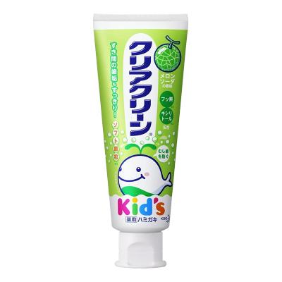 日本进口花王(MERRIES)儿童护理 婴幼儿木糖醇水果味牙膏70g 哈密瓜味 适合3~12岁儿童使用