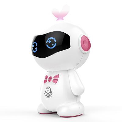 小琪XIAOQI U9机器人PVC小豆芽智能对话高科技语音男女孩WIFI儿童教育学习早教机 粉色