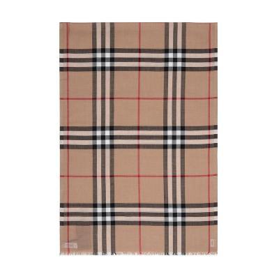 BURBERRY 博柏利 男女通用款格纹混纺围巾 80154051
