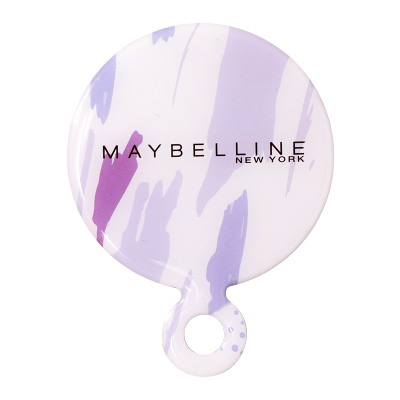 美宝莲紫色圆形卡片镜