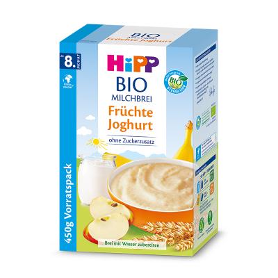 德国HIPP喜宝婴幼儿有机水果酸奶奶糊8个月+450g/盒