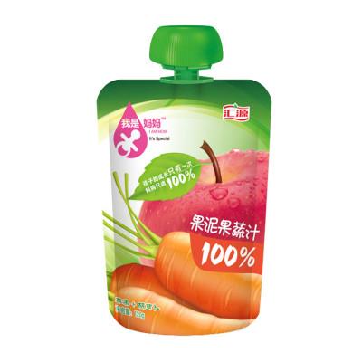 汇源100%果泥果蔬汁-苹果+胡萝卜 120g 袋装 2岁以上