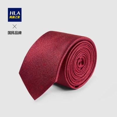 HLA海澜之家精致婚庆箭头型领带2021春季美观优雅光泽领带男HZLAD1D012A