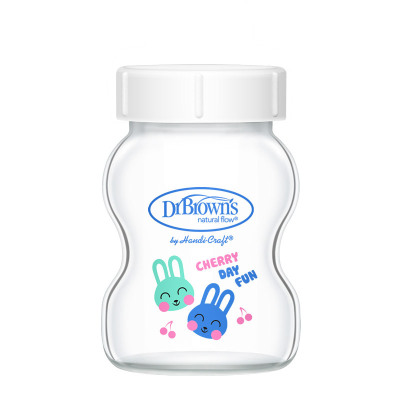 【可替换瓶身 单个装】布朗博士宽口玻璃储奶瓶储物瓶 晶彩版150ml 适用爱宝选/PLUS系列