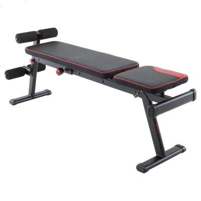 迪卡侬折叠哑铃凳仰卧起坐辅助器男女健身健腹器材家用CROW
