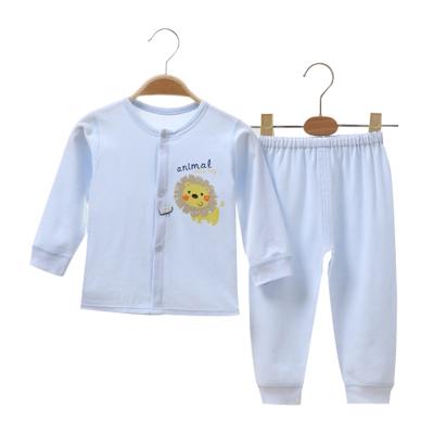 亿婴儿 纯棉婴儿衣服肩开扣内衣套装新生儿衣服睡衣宝宝四季秋衣秋裤2131