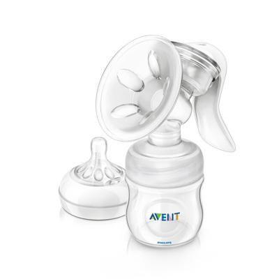 飞利浦 AVENT 吸奶器 新安怡宽口径自然原生系列手动吸乳器 英国原装进口 SCF330/20