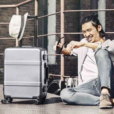 90分拉杆箱小米铝框旅行箱新款商务登机 拉杆箱男女潮万向轮密码行李箱子20寸登机箱24寸大容量密码箱