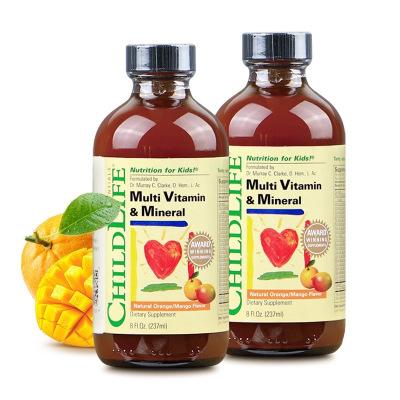 2瓶装|美国童年时光 多维锌 23种维生素*2瓶 宝宝婴儿童复合维生素6个月