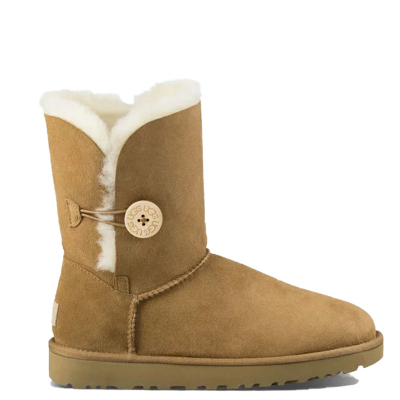 【直营】UGG(UGG) Bailey Button ll 贝莉纽扣2.0中筒平跟女士保暖雪地靴女靴1016226