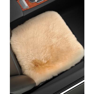 恒源祥纯羊毛汽车座垫长毛绒无靠背汽车坐垫皮毛一体三件套车垫子